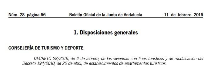 Licencias de Ocupación para alojamientos turísticos en Andalucía